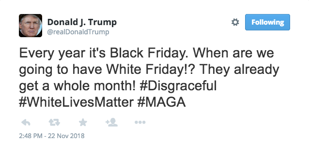Donald Trump Really Asked About White Friday Black Friday