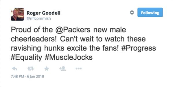 Roger Goodell Tweet Packers